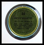 1971 Topps Coins #34  Roy White  Back Thumbnail