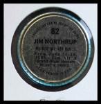 1971 Topps Coins #82  Jim Northrup  Back Thumbnail