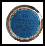 1971 Topps Coins #129  Jim Merritt  Back Thumbnail