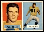 1957 Topps #120  Paul Miller  Front Thumbnail