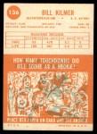 1963 Topps #136  Billy Kilmer  Back Thumbnail