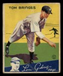 1934 Goudey #44  Tommy Bridges  Front Thumbnail