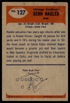 1955 Bowman #127  Gern Nagler  Back Thumbnail