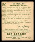1934 Goudey #55  Ed Holley  Back Thumbnail