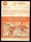 1963 Topps #94  Bill Forester  Back Thumbnail