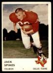 1961 Fleer #201  Jack Spikes  Front Thumbnail