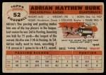 1956 Topps #52  Adrian Burk  Back Thumbnail