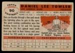 1956 Topps #90  Dan Towler  Back Thumbnail