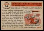 1956 Topps #54  Charley Toogood  Back Thumbnail