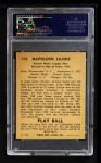 1940 Play Ball #173  Nap Lajoie  Back Thumbnail