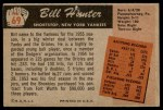 1955 Bowman #69  Bill Hunter  Back Thumbnail