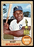 1968 Topps #172  Walt Williams  Front Thumbnail