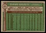 1976 Topps #352  Dave Giusti  Back Thumbnail