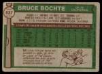 1976 Topps #637  Bruce Bochte  Back Thumbnail