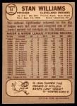 1968 O-Pee-Chee #54  Stan Williams  Back Thumbnail