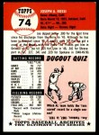 1953 Topps Archives #74  Joe Rossi  Back Thumbnail
