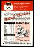 1953 Topps Archives #95  Willard Marshall  Back Thumbnail