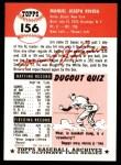 1953 Topps Archives #156  Jim Rivera  Back Thumbnail