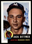 1953 Topps Archives #212  Jack Dittmer  Front Thumbnail