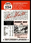 1953 Topps Archives #224  Lou Sleater  Back Thumbnail