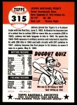 1953 Topps Archives #315  Johnny Pesky  Back Thumbnail