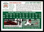 1954 Topps Archives #205  Johnny Sain  Back Thumbnail