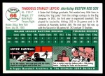 1954 Topps Archives #66  Ted Lepcio  Back Thumbnail