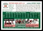 1954 Topps Archives #88  Matt Batts  Back Thumbnail