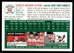 1954 Topps Archives #96  Charlie Silvera  Back Thumbnail
