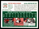 1954 Topps Archives #172  Hal Brown  Back Thumbnail