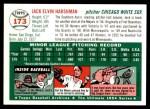 1954 Topps Archives #173  Jack Harshman  Back Thumbnail