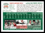 1954 Topps Archives #240  Sam Mele  Back Thumbnail