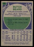1975 Topps #33  Butch Beard  Back Thumbnail