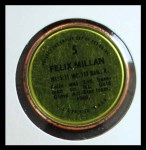 1971 Topps Coins #5  Felix Millan  Back Thumbnail