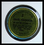 1971 Topps Coins #2  Davey Johnson  Back Thumbnail