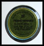 1971 Topps Coins #22  Frank Howard  Back Thumbnail