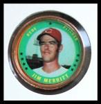1971 Topps Coins #129  Jim Merritt  Front Thumbnail