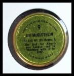 1971 Topps Coins #9  Jim McGlothlin  Back Thumbnail