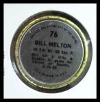 1971 Topps Coins #76  Bill Melton  Back Thumbnail