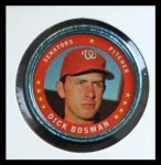 1971 Topps Coins #70  Dick Bosman  Front Thumbnail