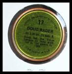 1971 Topps Coins #17  Doug Rader  Back Thumbnail