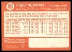 1964 Topps #569  Fred Newman  Back Thumbnail