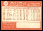1964 Topps #249  Doug Camilli  Back Thumbnail