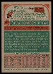 1973 Topps #213  Stew Johnson  Back Thumbnail
