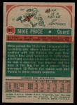 1973 Topps #51  Mike Price  Back Thumbnail