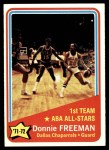 1972 Topps #252   -  Donnie Freeman  ABA All-Star - 1st Team Front Thumbnail