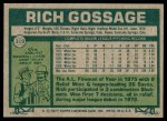 1977 Topps #319  Goose Gossage  Back Thumbnail