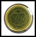 1964 Topps Coins #49  Norm Siebern   Back Thumbnail