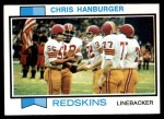1973 Topps #250  Chris Hanburger  Front Thumbnail