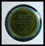 1964 Topps Coins #131 LHB  -  Mickey Mantle All-Star Back Thumbnail